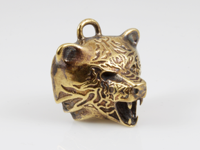 Fire Bear Pendant in Natural Brass