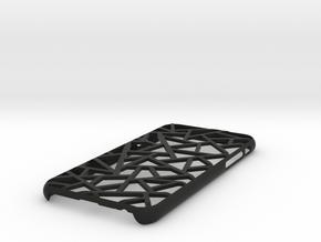 iPhone 6 / 6S case_Triangles in Black Premium Versatile Plastic