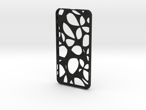 iPhone 6 plus / 6S plus Case_Voronoi in Black Premium Strong & Flexible