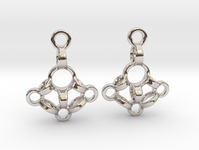 Loops Earrings in Rhodium Plated Brass