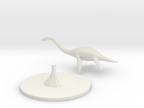 Plesiosaurus in White Natural Versatile Plastic