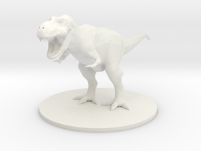 Tyrannosaurus Rex in White Strong & Flexible