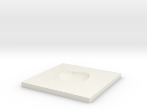 Arizona Meteor Crater 4inch 10cm thick base 6.4mm in White Natural Versatile Plastic