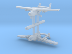 1/600 Cessna O-2 (x2) in Smooth Fine Detail Plastic