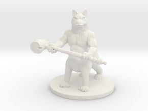 Wild Husky (Medium Canitaur) in White Natural Versatile Plastic