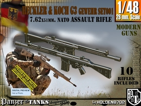 1/48 Heckler Koch G3 Set001 in Frosted Extreme Detail