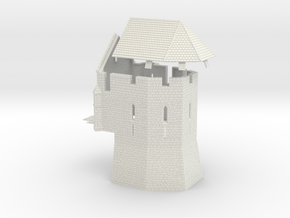 HOF061 - Castle chapel in White Natural Versatile Plastic