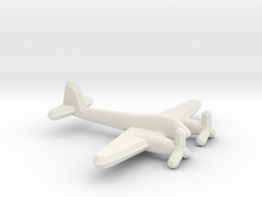 Me 410 Hornisse (1/900) in White Natural Versatile Plastic