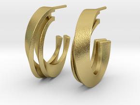 Möbius earring in Natural Brass