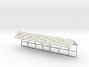 HOF034b - Roof for castle wall 4 in White Natural Versatile Plastic