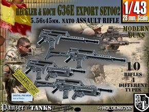 1/43 Heckler Koch Rifle G36E Export Set002 in Smoothest Fine Detail Plastic