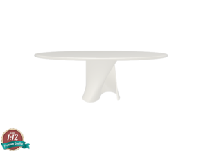 Miniature S Table - MDF Italia in White Natural Versatile Plastic: 1:12