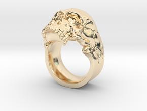 Vampiro Skull Ring in 14K Yellow Gold