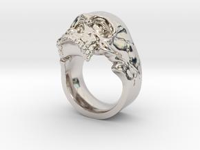 Vampiro Skull Ring in Platinum