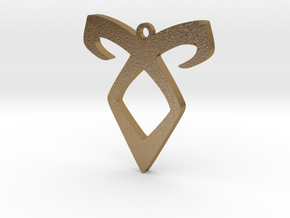 Shadow Hunters Pendant 2 in Polished Gold Steel