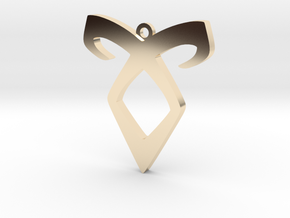 Shadow Hunters Pendant 2 in 14k Gold Plated Brass