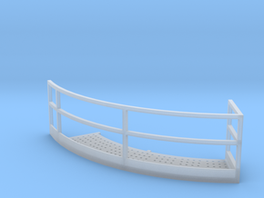 1/64 18' Tower Catwalk Round Left in Smooth Fine Detail Plastic