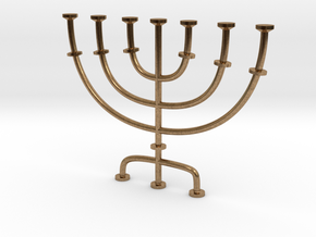 Menorah candlestick 1:12 scale model in Natural Brass