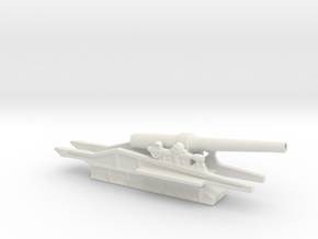 canon de 240l mle17 st chamond 1/100 ww1 artillery in White Natural Versatile Plastic