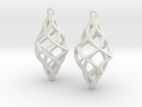 Capriccio Earrings in White Premium Versatile Plastic