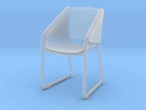 Miniature Simply Chair - Tonin Case in Smooth Fine Detail Plastic: 1:12