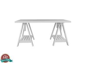 Miniature Vika Artur Desk - IKEA in White Strong & Flexible: 1:12