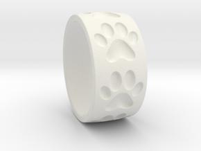 Dog Paw Ring in White Natural Versatile Plastic: 5 / 49