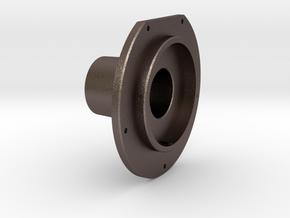 Tender Brake Cylinder Front Cover rev.B in Polished Bronzed Silver Steel
