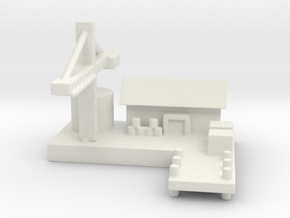 1/285 Ship Yard in White Natural Versatile Plastic