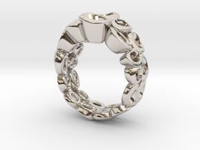 Neitiry Organic  Ring (From $13) in Rhodium Plated Brass: 6.5 / 52.75