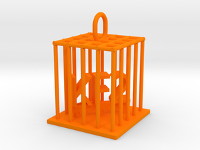 KF2 Jail Bird in Orange Processed Versatile Plastic