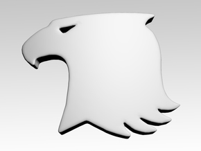 Hawk 1 Shoulder Icons x50 in Smooth Fine Detail Plastic