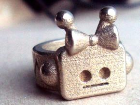 Girl Robot Ring in Stainless Steel