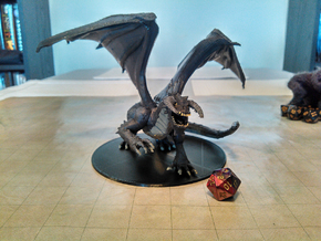 Ancient Black Dragon in Black Natural Versatile Plastic