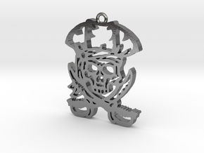 Pirate Pendant in Polished Silver