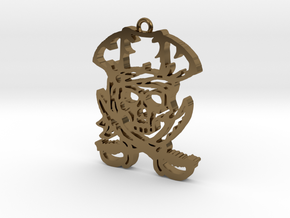 Pirate Pendant in Polished Bronze