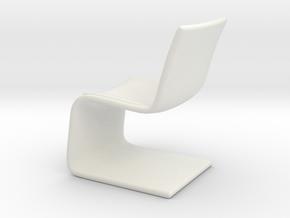 Miniature Atlantic Chair - Bugatti Home in White Natural Versatile Plastic: 1:12
