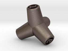 Tetrapod D4 in Polished Bronzed Silver Steel