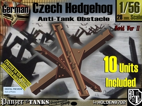 1/56 Anti-Tank Hedgehog set001 in White Strong & Flexible