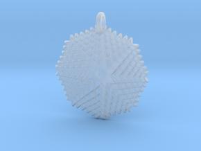 GridFlower Pendant in Smooth Fine Detail Plastic