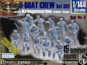 1/144 German U-Boot Crew Set302 in Smooth Fine Detail Plastic
