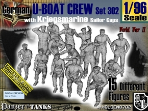 1/96 German U-Boot Crew Set302 in Frosted Ultra Detail