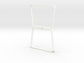 Table legs Trapeze (pair). 1:12, 1:24 in White Processed Versatile Plastic: 1:12