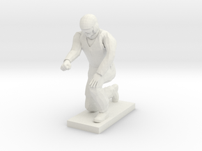 Ground Crew Kneeling in White Premium Versatile Plastic