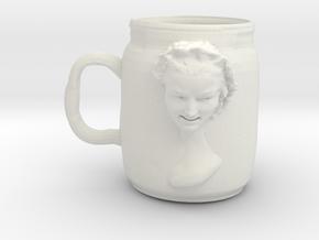 doubleheadcup in White Natural Versatile Plastic