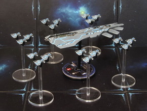 Space fighter P squadrons (6pcs) - Fleet Commander in Frosted Ultra Detail