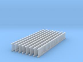 1/64 Railing Deck s scale in Smooth Fine Detail Plastic