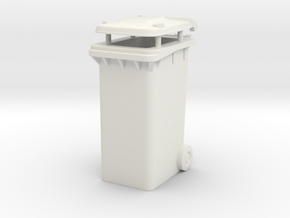 Trash bin Ver03. 1:24 Scale  in White Natural Versatile Plastic