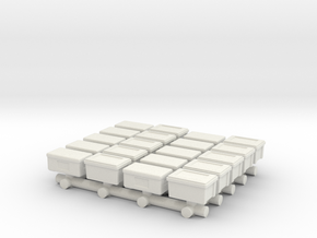 1/87 Scale Rubber Boxes in White Natural Versatile Plastic