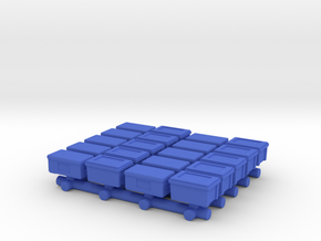 1/87 Scale Rubber Boxes in Blue Processed Versatile Plastic